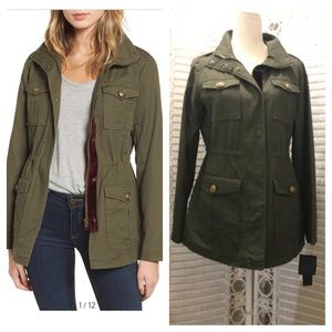 Steve Madden Olive Green Army Coat. Med. NWT